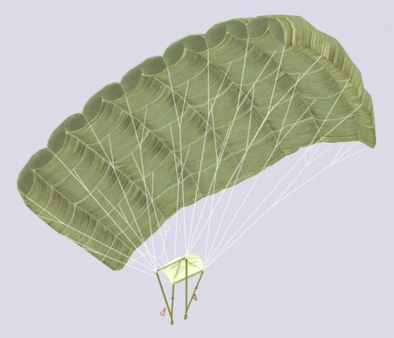 Komore krila i konstrukcija padobrana